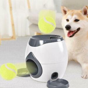 Dog Slow Feeder Toy Tennis Ball Thrower Food Reward Machine Fetch Training ToySE