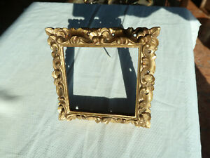 Antique frame in gilded wood, with real gold leaf, from the late 18th century.