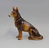 Porzellan-Figur Großer sitzender Schäferhund 9984319