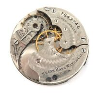 ONLY 59,000 MADE / 1899 ELGIN LADIES 0S 7J POCKET WATCH MOVEMENT.