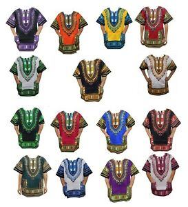 Dashiki Shirt African Unisex Hippie Blouse Top Mens Women Vintage Cloth One Size