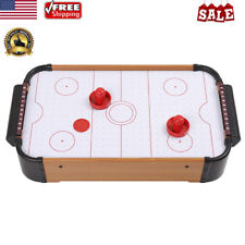 "20"" Mini Air Powered Hockey Table Top Game Battery Operated Blower Kid Adult Toy"