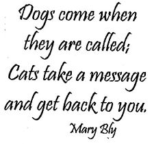 Mounted Rubber Stamps, Humorous Sayings, Cat Sayings, Cats & Dogs, Cat Humor