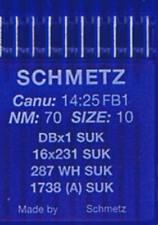 10 Schmetz-Rundkolbennadeln Stärke 70/10 für Jersey System 287WH 1738 (A) SUK