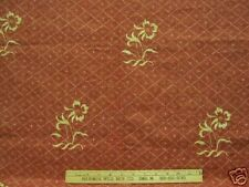G.P. & J. BAKER FLORAL Fabric TRELLIS   DIAMONDS  ON BRICK RED