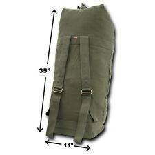 Olive Top Load Strap Duffle Military Heavyweight Field Canvas Shoulder Bag Bags