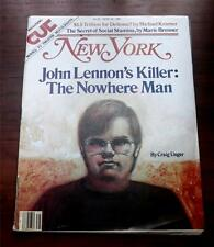 New York Magazine   June 22 1981   John Lennons Killer : The Nowhere Man VG Cond