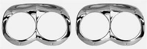 1958 Chevy Impala BelAir  Headlight Bezel Pair NEW 58 Chevrolet