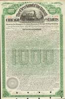 Cleveland Cincinnati Chicago St. Louis Railway > 1890 Big Four bond certificate