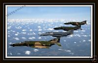 Photograph McDonnell Douglas F-4 Phantoms Aircraft Over Florida  11x17