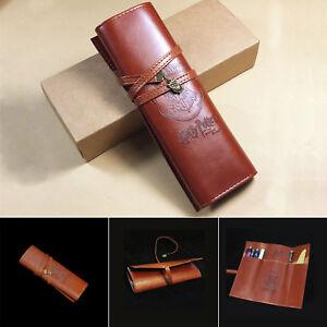 2021 Harry Potter Hogwarts Badge Pencil Pen Bag Retro PU Purse Wallet Case Gift