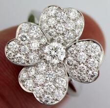 Van Cleef & Arpels Cosmos 18K White Gold & Diamond Ring VCARO4T00 Papers $27K! w