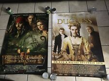 THE DUCHESS / PIRATES OF THE CARIBBEAN MOVIE 2 POSTERS WITH KIERA KNIGHTLY