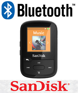 SanDisk Clip Sport Plus 16GB BLACK Wireless Bluetooth MP3 Player FM RADIO Music