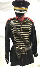 "SDL Officers 2 Pc Outfit BlK/Jacket Wth Leather Chest Belt Holster,Hat 42/44""M"