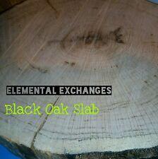 """1 Slab Cut Black Oak Log Slice 13""""  Rustic Wedding Cabin Plaque Lodge Forest"""