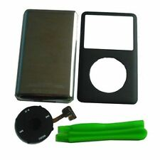 Blk Front Cover+Back Housing Case Clickwheel&Button For Ipod Classic 160GB Thin