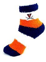 For Bare Feet Virginia Cavaliers Rainbow Stripe Fuzzy Socks