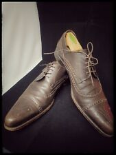 Mens D&G Dolce and Gabbana Brown Leather Lace Up Shoes Used