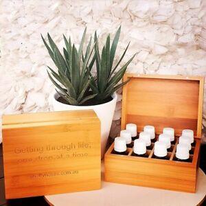 Essential Oil Bamboo Storage Box