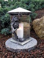 Lanterne Funéraire Bougies Socle Lampe pour Tombes Lumière Photophore Arbre