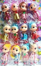 Lot of 12 pcs Cute Colorful Dressed Dolls 11cm Figures Models Hanging Toys