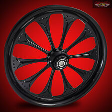 "Harley Davidson 21"" inch Black Front Motorcycle Wheel ""Wizard"""