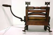 Antique ANCHOR BRAND Wooden Clothes Wringer Farm House Decor Laundry Room