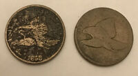 2 - 1858 Large Letters Flying Eagle Cent Free Shipping