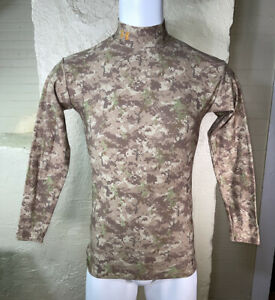 Under Armour Men's Digital Cold Gear Camo Mock Shirt Top Sz Large