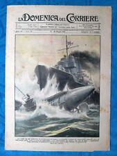 La Domenica del Corriere 19 maggio 1918 WW1 Cacciatorpediniere - Nave - C.Becker