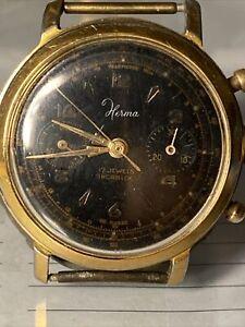 Montre Chronographe Herma ,landeron 148
