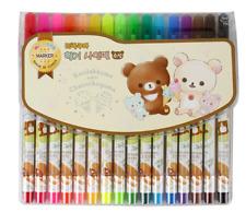 Rilakkuma 16 Colorswater-based Felt-tip Pen Marker Set  for Kids
