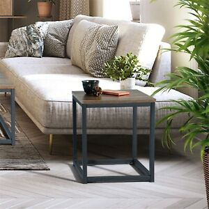 Furniturer Square Side Table,End Table,Night Stand With Multiple Finishes