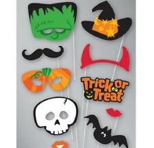 Scary Halloween PHOTO BOOTH PROPS Selfie Pack of 10 Halloween Party Supplies