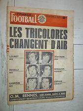 FRANCE FOOTBALL 1318 06/07 1971 HERBIN OM MARSEILLE BILAN 70-71 BLANCHET BERETA