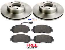 FOR VAUXHALL MOVANO 2.3 CDTi (2010-2016) FRONT BRAKE DISCS & PADS SET *NEW*