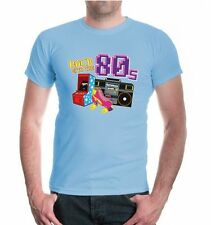 Herren Kurzarm T-Shirt Back to the 80s 80iger Jahre Party Achtziger 80er Retro