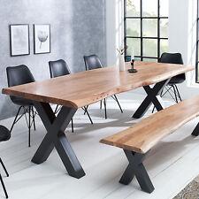 Massiver Baumstamm Tisch MAMMUT 160cm Akazie Massivholz Esstisch Küchentisch