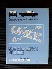 """BMW """" 1800 """" All Models 1964 to 1970   SERVICE and REPAIR MANUAL NOS"""