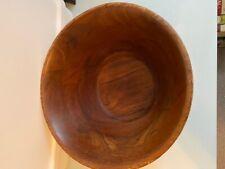 Vintage ! Burl Walnut Wooden Salad Bowl