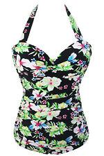 Costume Da Bagno Monokini Stampa Fiori Arricciato Print Swimwear Swimsuit M