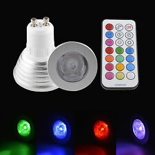 3w LED GU10 Automatic Colour Change 16 colors  Red Green Blue RGB Light Bulb GTW