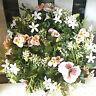 Blumenkranz Kranz Tischkranz 30cm Türkranz Primel Stiefmütterchen Weiß Rosa Deko