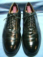 Men's Dress Shoes JOHNSTON & MURPHY Oxfords Sz 10 D Black, Leather Soles USA 172