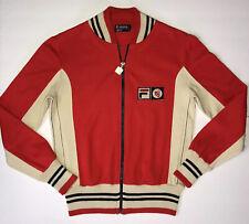 Vintage 70s Fila BJ Bjorn Borg Settanta MK1 US 32 Red Cream Tennis Track Jacket