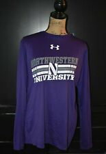 Northwestern University Purple Long Sleeve Under Armour - Medium, Loose HeatGear