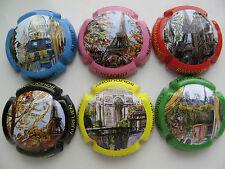 Série de  6 new capsules  de Champagne AURELIEN, Paris monuments