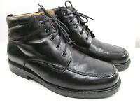 Florsheim Chukka Lace Up Boot Shoes Mens Black Apron Toe Size 9.5 M