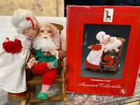 "21"" Santa's Best Animated Mrs Claus Kissing Santa Christmas Love Gift  Musical"